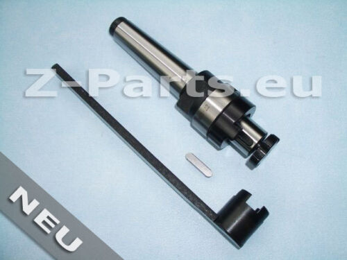 Kombi-Aufsteck-Fräsdorn MK3 M 12 für Fräser mit Längs und Quernut 22 mm NEU
