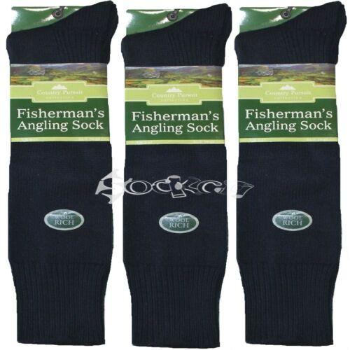 3 paires homme pêcheur pêche chaussettes laine taille de chaussure Hiver Genou Moto 6-11