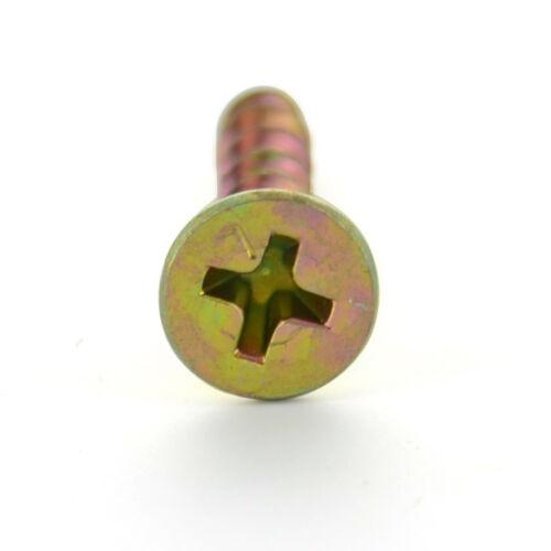 "Yellow Zinc 5000 Phillips Bugle Head 6 x 3//4/"" Coarse outdoor Wood Screw"