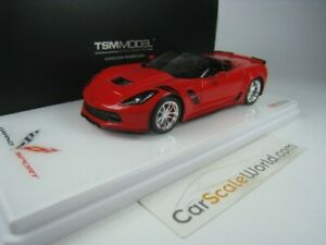 Chevrolet Corvette Grand Sport Décapotable 2017 1/43 Tsm Modèle (rouge flambeau)