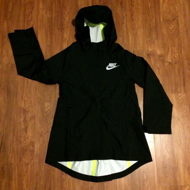 63910f3c4 Nike Girl Sportswear Rain Jacket Black 806399 010 Size Small Retail ...