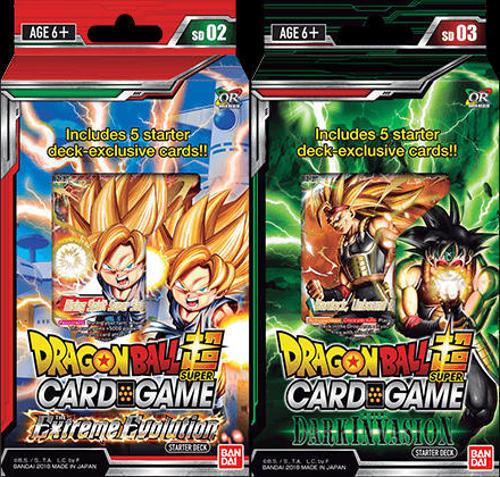 Dragon Ball Super SET OF 2 Starter Decks Extreme Evolution /& Dark Invasion NEW!!