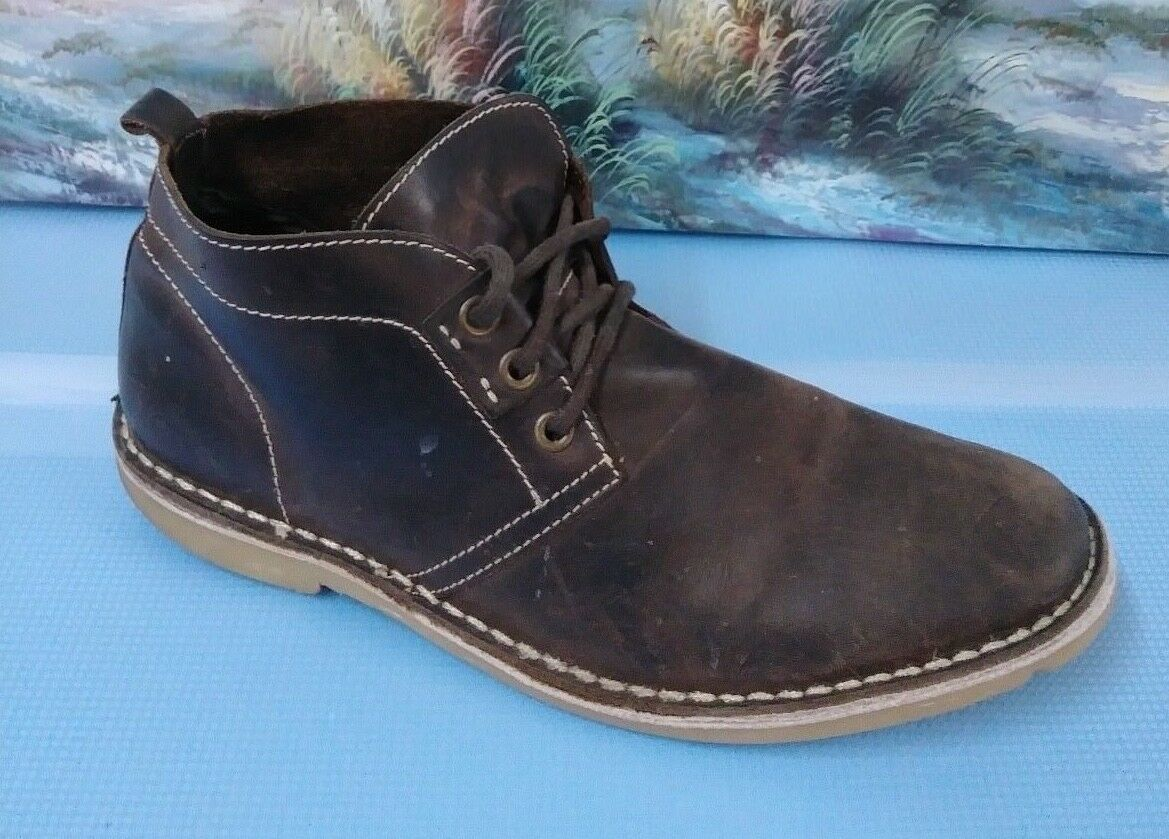 Mens Suede Chukka  Boots Lace Up Desert shoes Oxford Brown Size 13 46