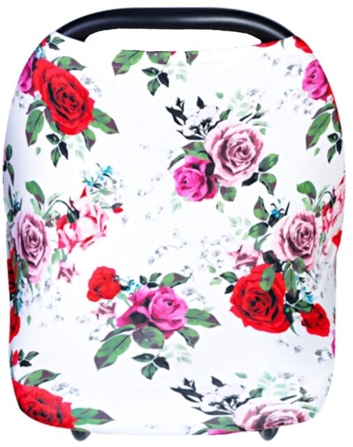 Rose Floral Multifunction Sun Shade Canopy Infant Stroller Covers Breastfeeding Nursing Cover Baby Carseat Canopy