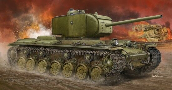 Kv-220 Russian Tiger Super Heavy Tank 1:35 Plastic Model Kit TRUMPETER
