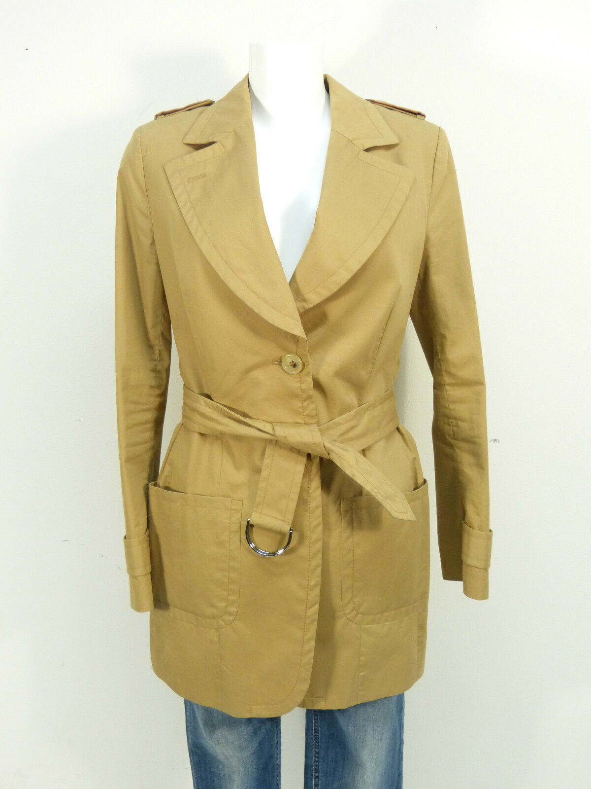 TIGER OF SWEDEN MANTEL GR.40   BRAUN & LUXUS PUR - TRENCHCOAT   ( J 9300 P )