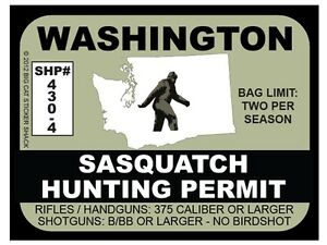 Sasquatch-Hunting-Permit-WASHINGTON-Bumper-Sticker
