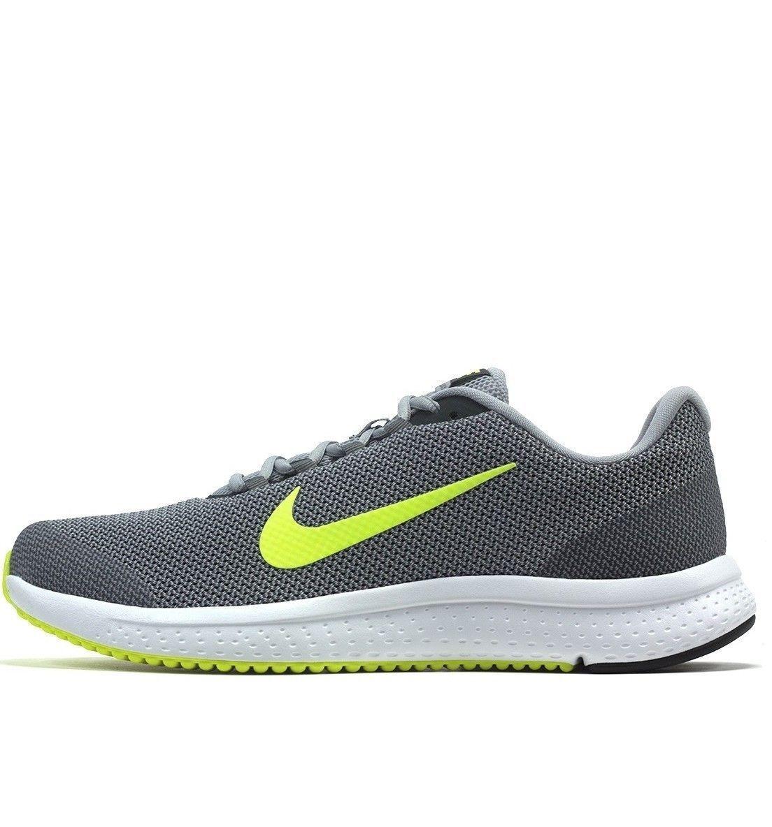 New Nike Runallday Men's Running Training Shoes Grey Volt Anthracite 898464 012