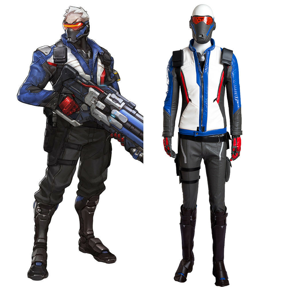 "Overwatch Soldier 76 John /""Jack/"" Morrison Cosplay Costume Female Game Outfit"