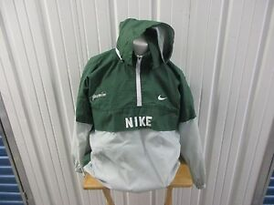 half off special for shoe official Details about VINTAGE NIKE HALF ZIP-UP HOODIE WINDBREAKER XL SEWN JACKET  PRE-OWNED GREEN/GREY