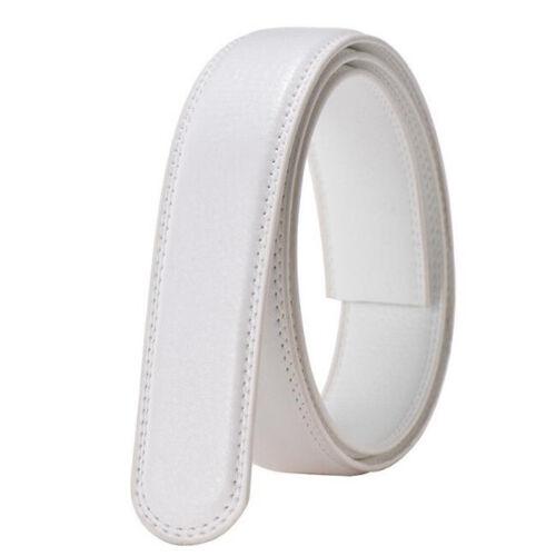 Men/'s Women/'s Slide Belt Leather Strap Waist Belts Waistband Without Buckle