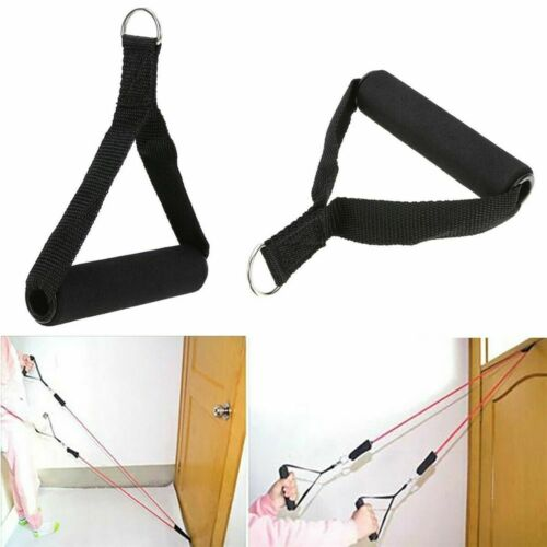 Tricep Rope Cable Attachment Handle Bar Resistance Gym Training Band Grip D Ring