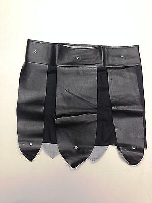 Black Roman Gladiator Skirt Belt Apron Pteruges Vinyl Trojan Armor Costume Greek