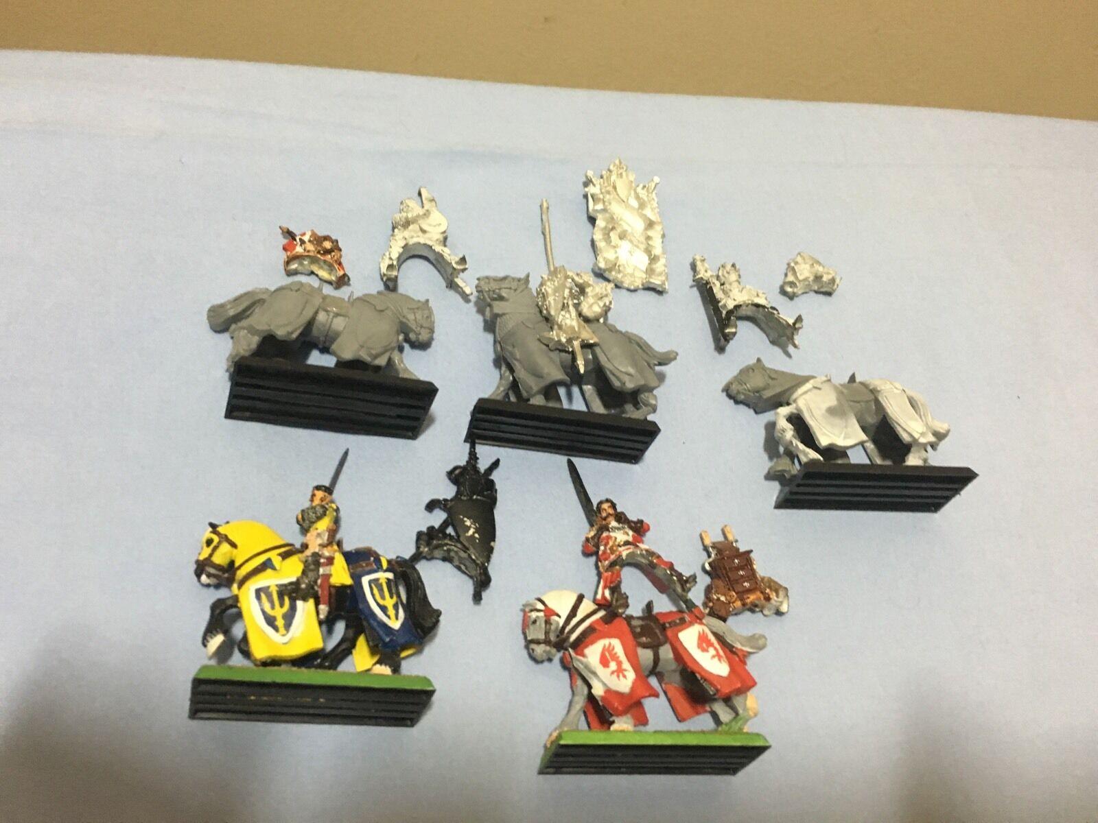 Bretonnia Bretonnia questing knights Metal Unit Of 5 OOP With Transfer Sheet