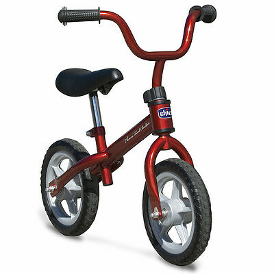 Chicco Red Bullet Balance Bike, Kids First Push Training Bicycle
