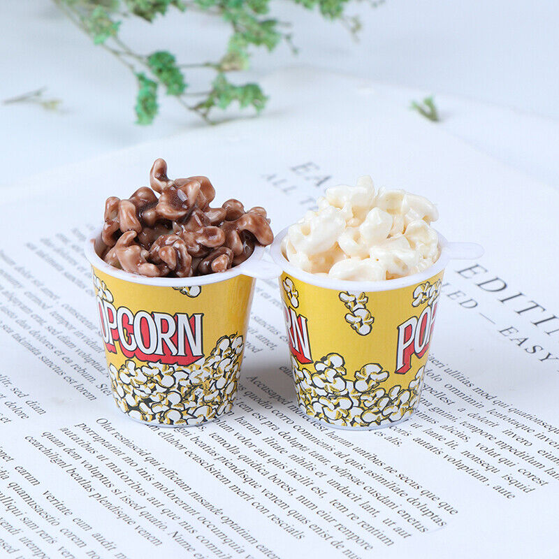 1Pc 1:6 Dollhouse Miniature A Bucket of Popcorn Toy Pretend Play Kitchen Toys FD