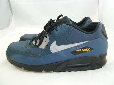 NIKE AIR MAX 90 ESSENTIAL USED MEN 15 BLUE FABRIC LOW TOP SNEAKERS 537384-413   eBay