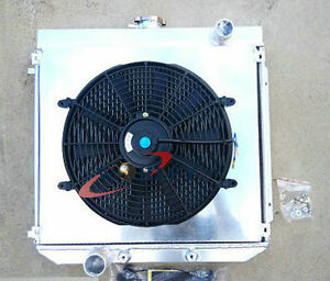 56mm-3-Row-Aluminum-Radiator-Shroud-Fan-for-Ford-XW-XY-302-GS-GT-351-Cleveland