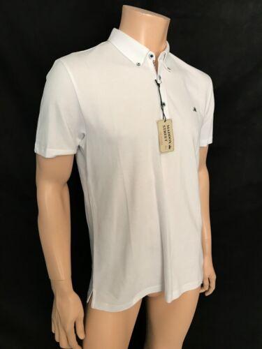 White BNWT Mod Maddox Street Polo Shirt Cotton Size Medium