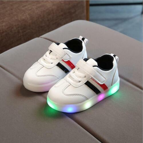 Zapatos de niños Luces Zapatilla de deporte de moda para niños Zapato casual New