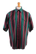 Wrangler Vintage Short Sleeve Shirt Green/Stripes Size 36 - SH1978