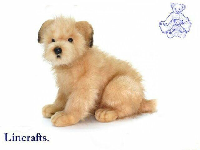 Sitting Norfolk Terrier Plush Soft Toy Dog by Hansa Sold by Lincrafts 3996 SALE