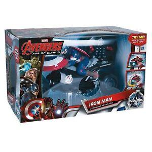Sur Command Captain De Rc D'origine Âge U Détails BatteriesAfficher America Ultron Avengers Titre Vélo Jouetflat Le hQtsxrdC