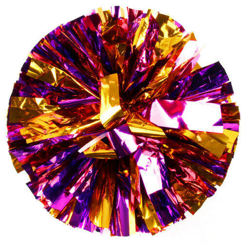 Cheerleaders Pom Pom Flower Ball Pom Pon PVC Square Dance Props for Games Party