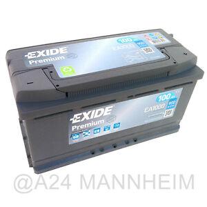 Exide Premium Carbon Boost 100AH 900A EA1000 Autobatterie