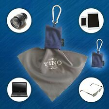 3X Micro-Fiber Camera & Lens Cleaning Cloth Keychain with Pouch