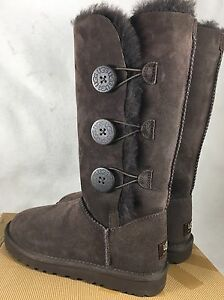 4c3f2bcfb2c Details about Ugg Bailey Button Triplet Triple Button 1873 Womens Chocolate  Brown Tall Boots