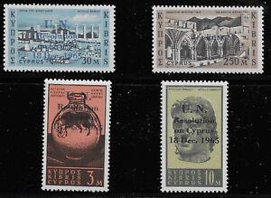 Cyprus-Scott-265-68-Singles-1965-Complete-Set-FVF-MNH