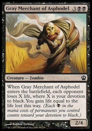 Theros *Black Devotion Lifegain* MTG 4x GRAY MERCHANT OF ASPHODEL