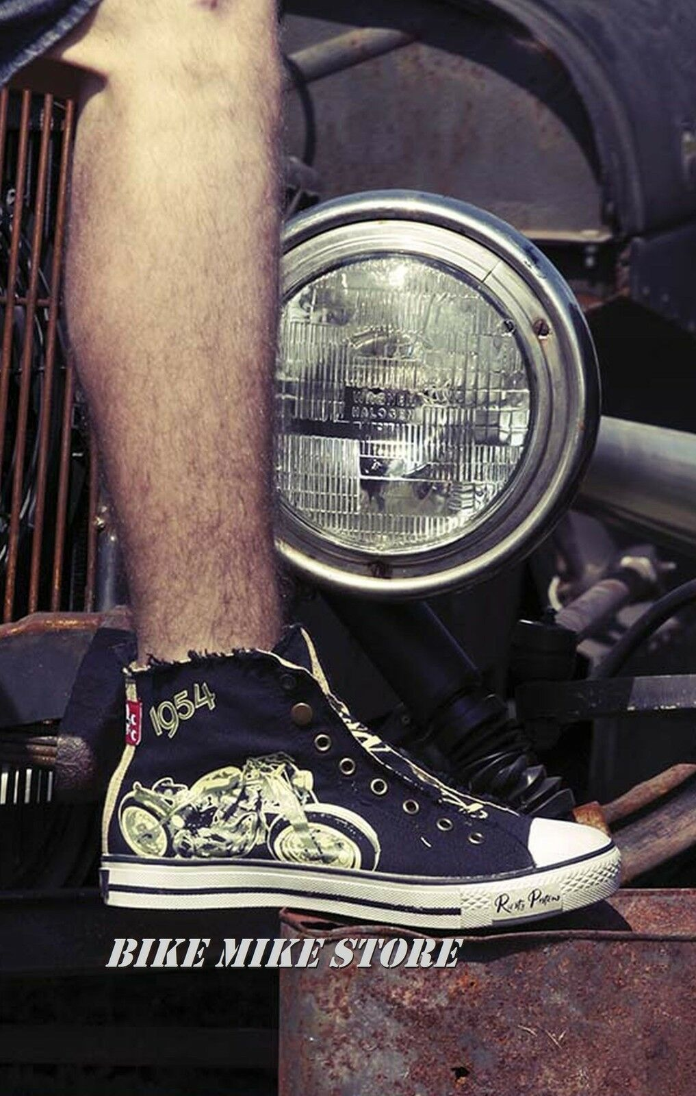 Rusty Pistons HAZARD Sneaker Chucks Rockabilly Gr. 37-46 Motiv Hot rod & Bobber