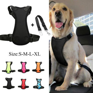 Air-Mesh-Pet-Dog-Car-Harness-and-Seatbelt-Clip-Lead-Leash-for-Dogs-Travel-S-XL