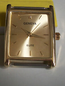 Gold Finish Square Gold Face Men S Watch Face Movement For Watches
