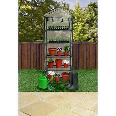 5 TIER GREENHOUSE COMPACT GREEN HOUSE PLASTIC COVER INDOOR OUTDOOR MINI PLANTS