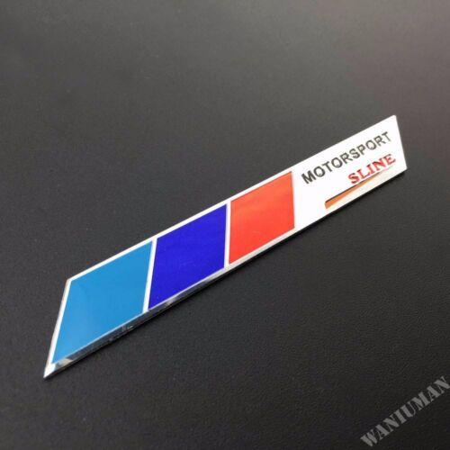 2pcs Aluminum Sline Emblem Car Badge Decal Sticker For Audi A Q S Quattro TT