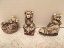 Set of 3, Teddy Bear Refrigerator Magnets - Excellent Cond. - Made in Taiwan