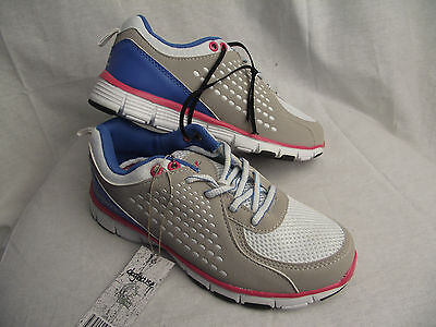 BNWT Little Girls Sz 10 Rivers Doghouse Grey and Blue Tab Athletic Jogger Shoes