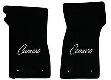 LLOYD Classic Loop™ Black FRONT FLOOR MATS with logos 1968-1969 Chevrolet Camaro