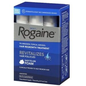 Rogaine Hair Regrowth Men 5% Minoxidil Topical Foam 3 month - GUARANTEED FRESH!
