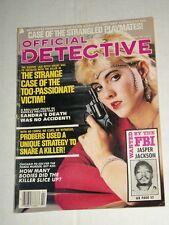 Vintage OFFICIAL DETECTIVE Vol 57 #2 February 1987 Gun Wielding Blonde!