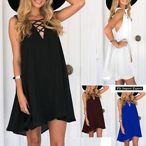 big sale 4a932 3e922 Dettagli su Vestito Donna Mini Abito Chiffon Copricostume Woman Mini Dress  110304