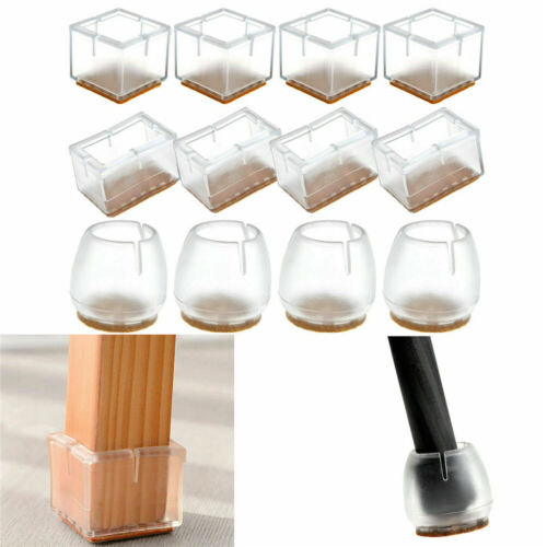 4Pcs Table Chair Foot Leg Silicone Caps Pad Furniture Feet Cover Floor Protect