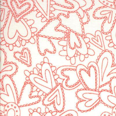 Pink Half yard Riley Blake Fabric Sweet Hearts Home Fabric