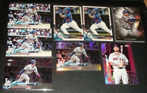 Alex Verdugo Rookie LOT (8), 7 RC's & 1 SP Pink Refractor, Dodgers, Red Sox RC's