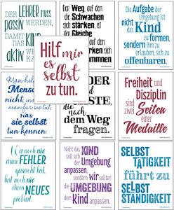 Montessori Zitate 10 Motivations Poster Zur Montessori Pädagogik