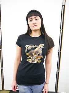 Womens-Dinosaur-Tyrannosaurus-T-shirt-Ladies-Top-T-shirt-Dinosaurs-T-Rex-New