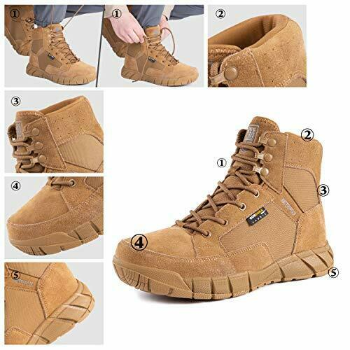 FREE SOLDIER Waterproof Hiking Work Boots Men's Tactical Boots 6 Inches Light...